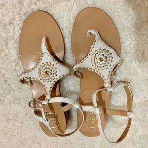 Elise sandal in white by Jack Rogers